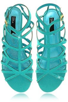 BLINK ALINA Teal Crystal Sandals.  Pretty turquoise!