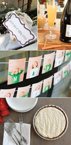 These are my favorite holiday themed projects that you need to know about! A quick gift idea, a delicious champagne cocktail recipe, a darling kid's craft idea using photos and the most delicious peanut butter pie recipe!