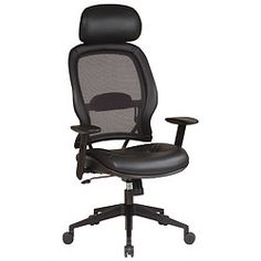 Space Series Mesh Back Computer Chair w/ Headrest & one touch adjustments, Comfy. Professional.