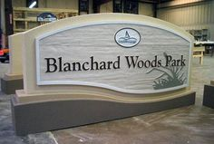 Sign Design Ideas newspring cedar sign Sign Design Ideas Step 2 Early Proof Of Stone Sign Office Signs Sign Design Ideas