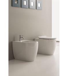 5522- Scarabeo  Scarabeo Moon Gulvstående toalett 545x360 mm, Hvit