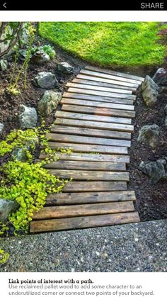 Path made from pallets
