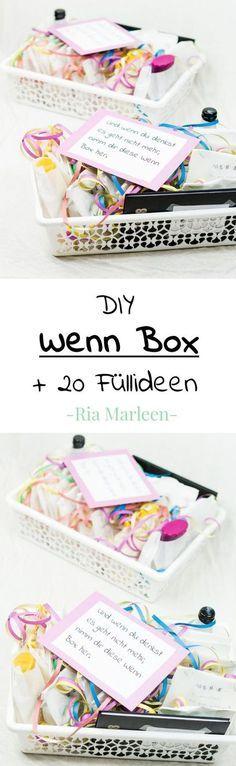 DIY Wenn Box basteln - schöne Geschenkidee für jede Person und jeden Anlass... egal ob Geburtstag, Weihnachten oder Hochzeit - über diese Wenn Buch Alternative wird sich jeder freuen.... DIY Geschenk, Geschenkbox, Geschenke verpacken #geschenkidee