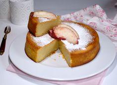 Gâteau à la farine de maïs, pulpe de pêches, amandes et huile d'olive (sans…