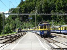 BOB, Zweilutchinen, ABeh 4/4, 31.07.10 Swiss Railways, Train Tracks, Switzerland, Plane, Trains, Zug, Airplane, Airplanes