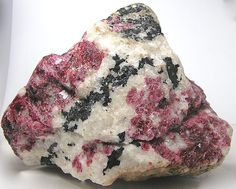 Rare Red Stone Eudialyte White Nepheline Mineral Specimen Slabs Giant Earth Nugget Wonder Stone over 6 pounds 2863 Grams Minerals And Gemstones, Crystals Minerals, Rocks And Minerals, Stones And Crystals, Gem Stones, Rocks And Gems, Earth, Coastal, Shells