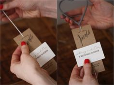 "Or your own <a href=""http://www.17apart.com/2014/02/diy-wedding-sparkler-tutorial-free.html"" target=""_blank"">sparkler packet</a>, so guests see you off in style:"