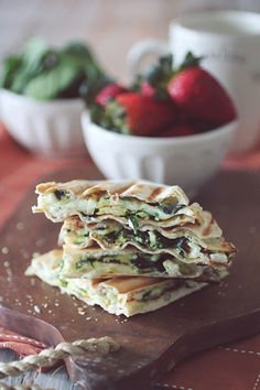 Spinach Feta Egg White Wrap