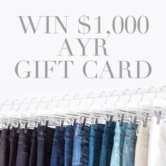 Ready for some retail therapy? You have ONE day left to win a $1,000 spree to AYR!
