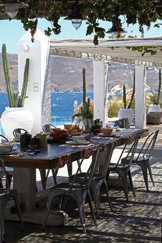 Dining in Mykonos , Greece
