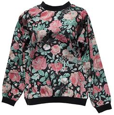 Lovers + Friends Floral Rose Print Sweatshirt Top (Medium) Lovers+Friends http://www.amazon.com/dp/B011HVI9LW/ref=cm_sw_r_pi_dp_f1.Ovb00QZZH5