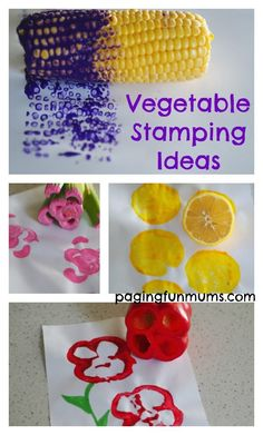 The kids can create so many amazing artworks with vegetables! Click to this blog for these ideas & more!