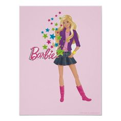 Barbie Colorful Stars Poster