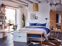 Bedroom Images Ikea A MUM has adapted her arid kitchen for aloof application bargains from Wilko and Ikea. Master Bedroom Interior, Ikea Bedroom, Modern Bedroom Design, Bedroom Decor, Cama Ikea, Ikea Bed Frames, Ikea Decor, Appartement Design, Bed Frame With Storage
