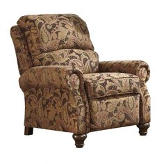 Hutcherson Spice Leather Low Leg Recliner