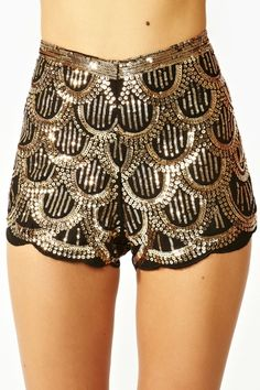 Deco Sequin Shorts from Nasty Gal