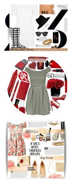 """Winners for 60 Second Style: Off-Shoulder Dress"" by polyvore ❤ liked on Polyvore featuring La Femme, Topshop, Stuart Weitzman, Akira, rag & bone, Carolee, Casetify, Smoke & Mirrors, Salvatore Ferragamo and 60secondstyle"