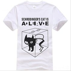 Dmart7deal; The Big Bang Theory Sheldon Cooper Schrodinger Cat T shirt Cartoon Anime