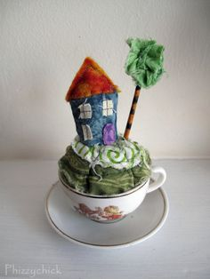 Blue Teacup House by Phizzychick on Etsy, £19.00