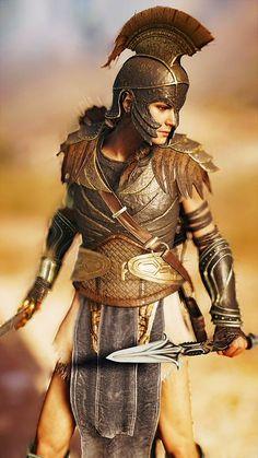 Assassins Creed Art, Assassins Creed Odyssey, All Assassin's Creed, Greek Warrior, My Fantasy World, Fantasy Armor, Gladiolus, Amazons, Ancient Greece