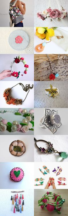 Flowers and colors by Stella Chili on Etsy--Pinned with TreasuryPin.com