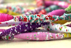 perles en papier à tester en tissu