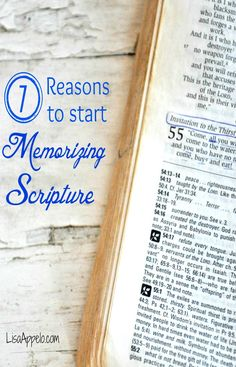 Memorizing scripture is one of THE top faith building things you can do! Memorized verses are yours to keep . . . and use when you need them. Plus 6 other reasons to memorize scripture.