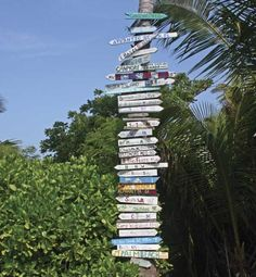 Street signs in Abaco