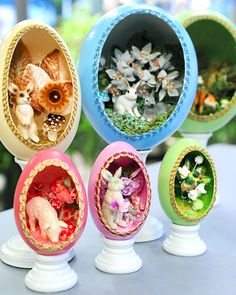 """Whimsical Window Egg - My grandmother made eggs like this! I think I must add this to my """"to do"""" list. *nods*"""