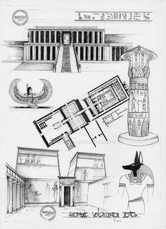 Egyptian Architecture by dedeyutza