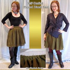 Wrap Blouse and Skirt