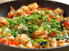 Free photo Delicious Pan Egg Fry Up Eat Chives Potatoes - Max Pixel