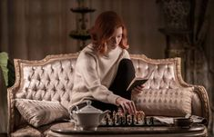 Thea Queen, Prison, How To Play Chess, Anya Taylor Joy, New Netflix, Roll Neck Sweater, Roll Neck Jumpers, Bride Hair Accessories, Girl House