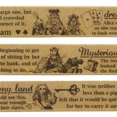 cute brown Alice in Wonderland deco tape sticky tape by Mind Wave 1