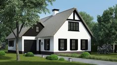 Wonderful Huis Bouwen Limburg that you must know, You're in good company if you're looking for Huis Bouwen Limburg Style At Home, Beautiful Buildings, Beautiful Homes, Modern Bungalow Exterior, Thatched House, Scandinavian Home, Classic House, Next At Home, Modern House Design