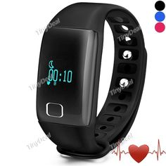 T1 Smart Bracelet with Display Call SMS Reminder Caller ID Pedometer Mileage Calorie Sleep Heart Rate Monitor IP67 E-515999