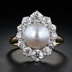 one of the most beautiful antique pearl rings I have everrrrr seen