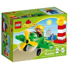 LEGO® DUPLO® Town Little Plane 10808: Safety check the LEGO® DUPLO® Little Plane then head for the skies! Go flying in this Little Plane with turning propeller but first use the fuel can to fill...