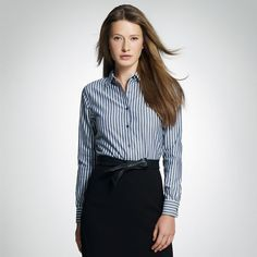 e1917c50b5ec striped button down business casual outfits - Google Search Conference  Outfit, Professional Look, Pretty