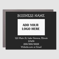 Business Logo and Information Car Magnet #AD , #Affiliate, #Information#Car#Magnet#Shop
