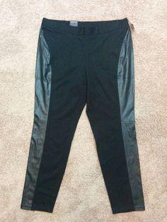 International Concepts INC black skinny leg faux leather pants, Plus 18W, #2059 #INCInternationalConcepts #Skinnyleg
