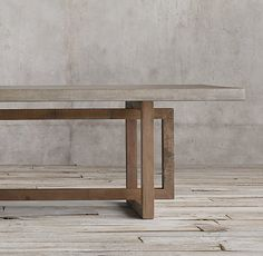 Rectangular Dining Table Rectangular Dining Table Heston Console Table Fritz Hansen Essay Dining Table in Oak by Cecilie Manz Diy Dining Room Table, Concrete Dining Table, Dining Table Design, Modern Dining Table, Patio Table, Concrete Patio, Diy Patio, Industrial Dining Tables, Console Table