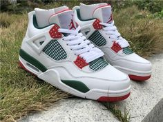 27a334daaa9f 2019 Air Jordan 4 NRG Do The Right Thing White Green Red UK Shoes AQ3816-