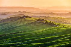 Impressioni d'Aprile by ronnybas sunset spring italy green tuscany golden hour rolling hills crete senesi asciano Impressioni d'April