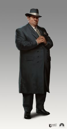 """The Godfather"" a concept art by Karla Ortiz. The image of a big heavy over weight gangster leader does not equate to class or elegance. It eludes to self indulges that are to an excess."