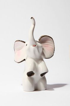 Ceramic Elephant Ring Holder