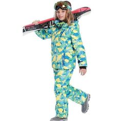 DETECTOR Waterproof Ski Snowboard Suit - Kid's