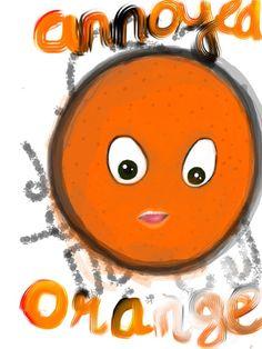 Annoyed Orange #illustration #drawing