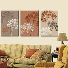 Stretched Canvas Art Floral BranchesSet of 3 – USD $ 59.99