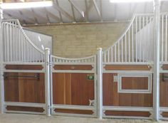 Horse Barn Stalls...sub a darker color for white, would NOT want to clean that.
